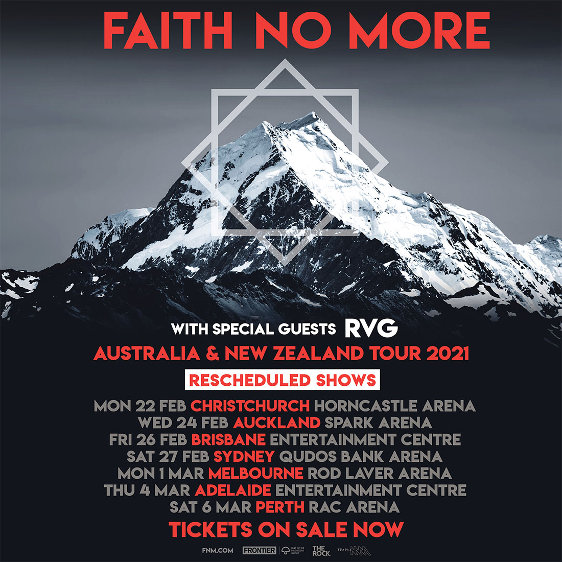 FAITH NO MORE RESCHEDULED DATES ANNOUNCED – TOURING FEBRUARY/MARCH 2021