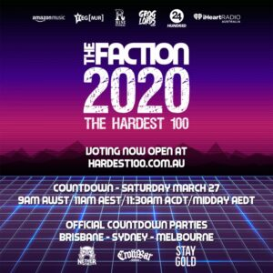 VOTING NOW OPEN FOR THE FACTION'S 2020 HARDEST 100 COUNTDOWN!
