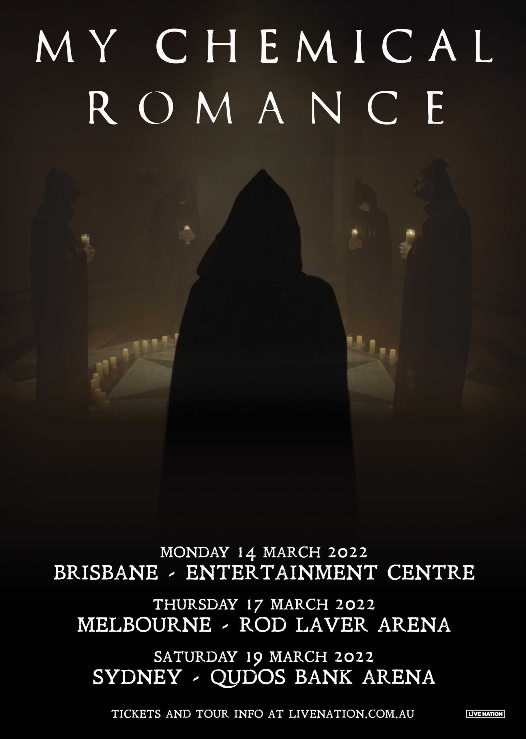 MY CHEMICAL ROMANCE AUSTRALIA TOUR CONFIRMED FOR 2022.